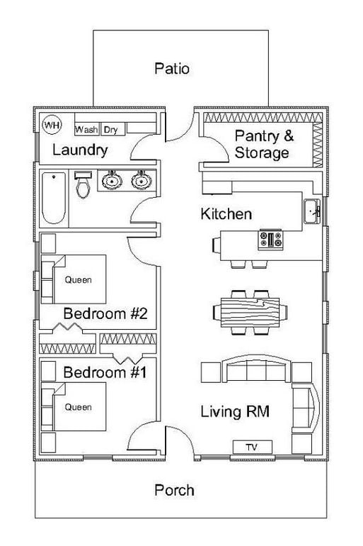25 The Small Kitchen Layout with Island Floor Plans Tiny ...