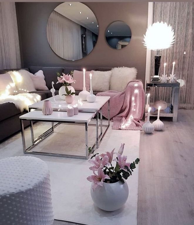 +18 Outrageous Grey and Pink Living Room Ideas Decor Tips ...