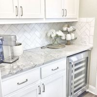 19+ Top Choices Of Granite Countertops With White Cabinets Grey Backsplash Ideas 16