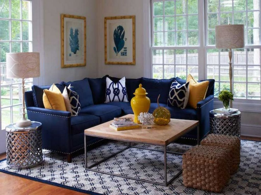 36 Navy Blue Sectional Living Room Decor Reviews & Tips ...