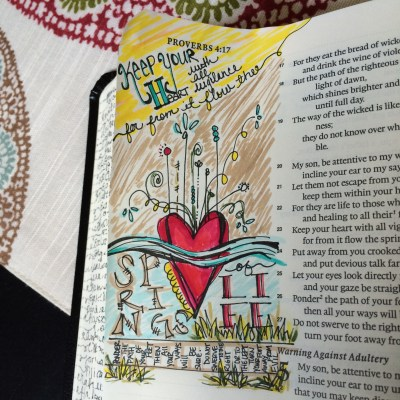 Journaling Bible | Well Spring of Life | apileofashes.com