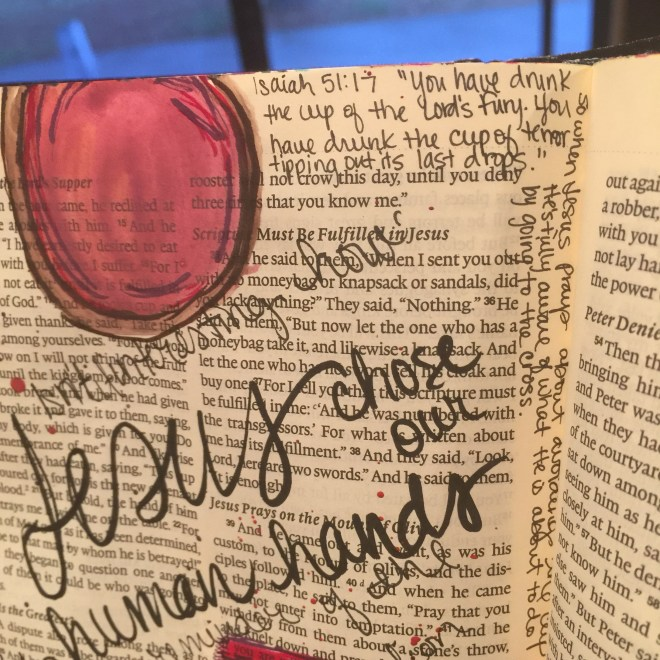 Journaling Bible   The Last Supper  apileofashes.com