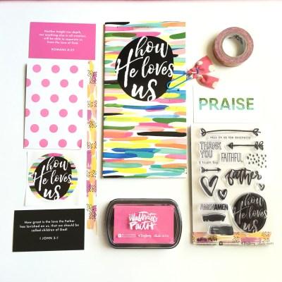"Illustrated Faith   Tickled Pink ""How He Loves Us"" Devo Kit"