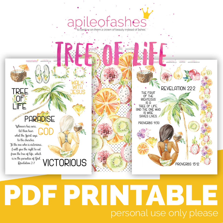 photograph regarding Tree of Life Printable called Tree of Existence Bible Journaling Electronic Down load * apileofAshes