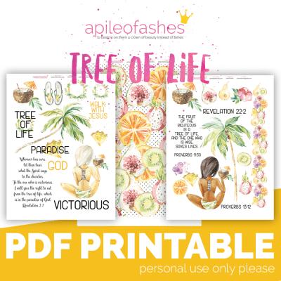 bible journaling digital download tree of life