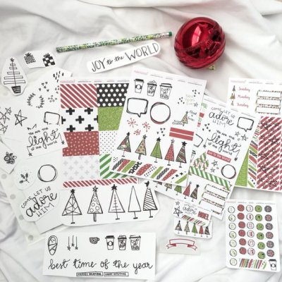 Adore Him December Daily Stickers
