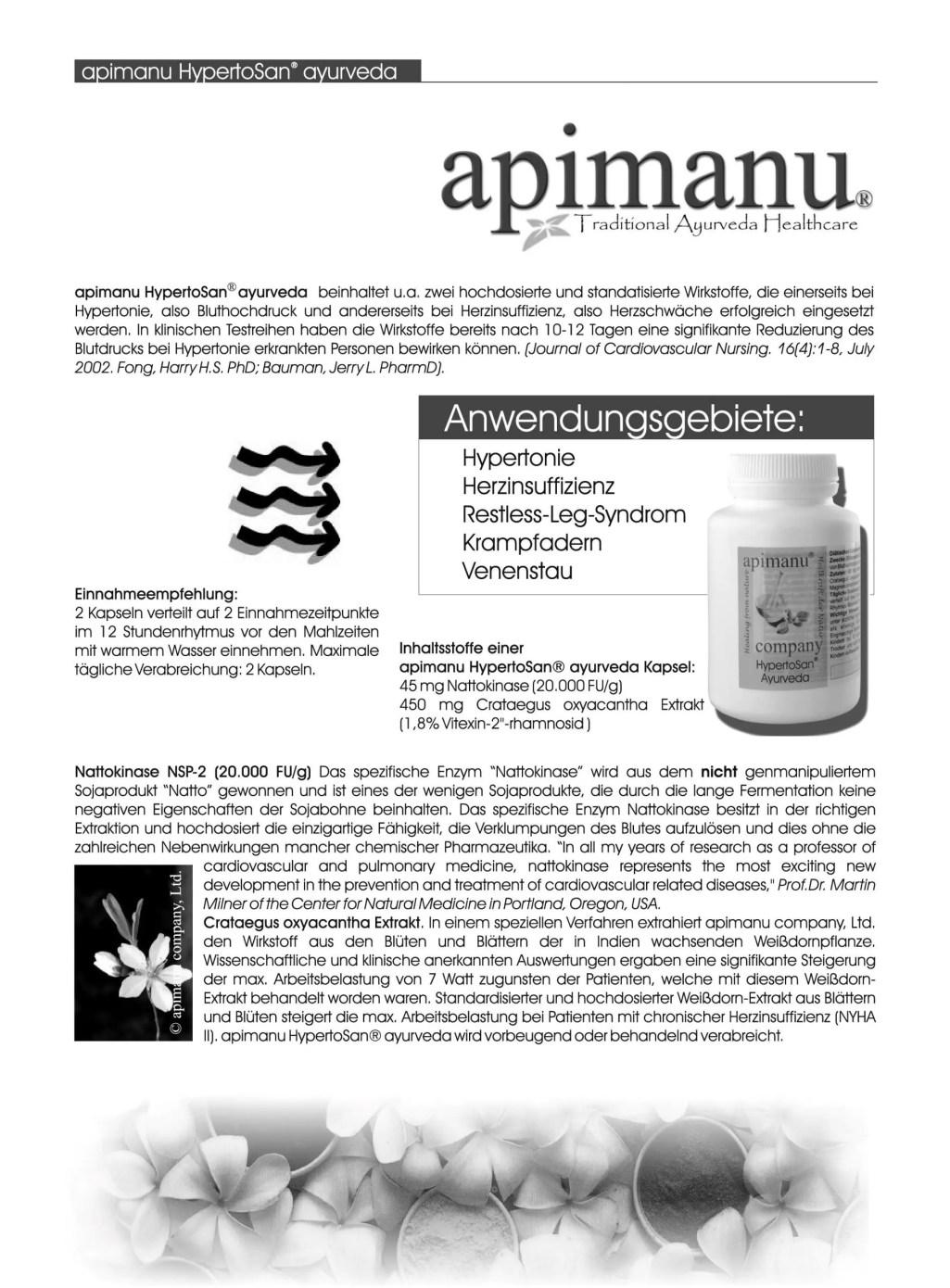 Produktbeschreibung apimanu Hypertosan