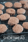 pepperberry, sea salt, cacao shortbread
