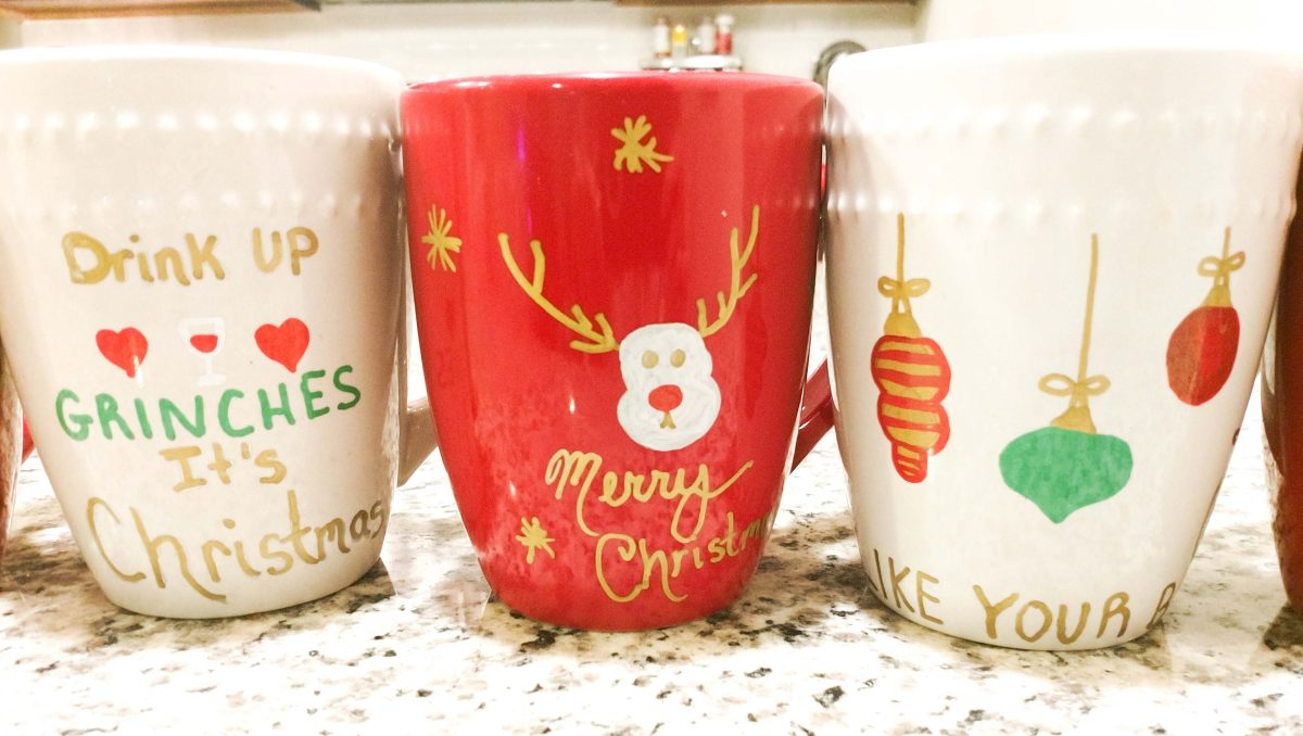 DIY christmas mugs