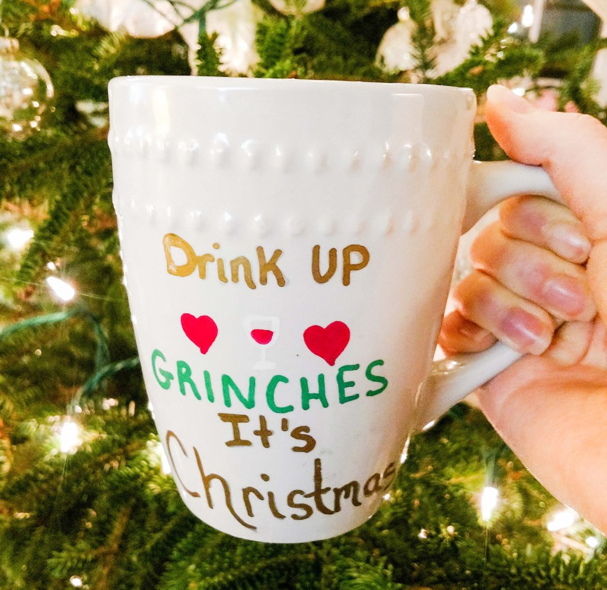 DIY christmas mugs