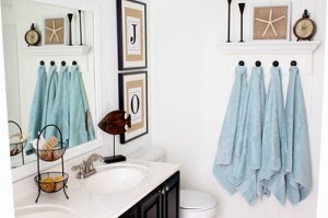 Photo from Just A Girl Blog - Coastal Bathroom