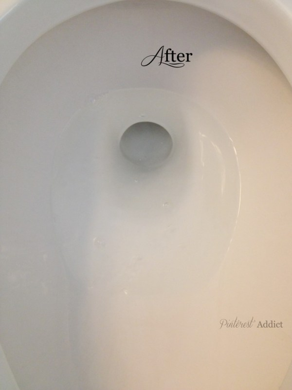 Pumice stone toilet bowl cleaner after