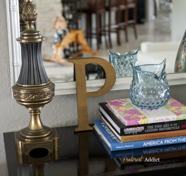 Brass P, Brass Lamp, Scarf wearing rocking horse