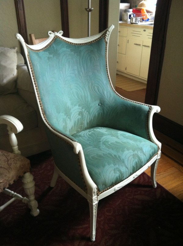 Annie's chair after Tulip Fabric Spray