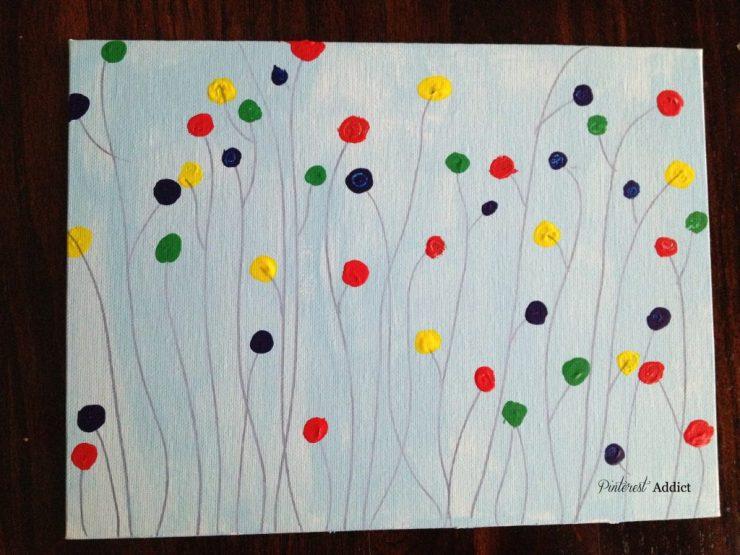 DIY Art - my DIY circle painting - I think it could have used bigger dots...