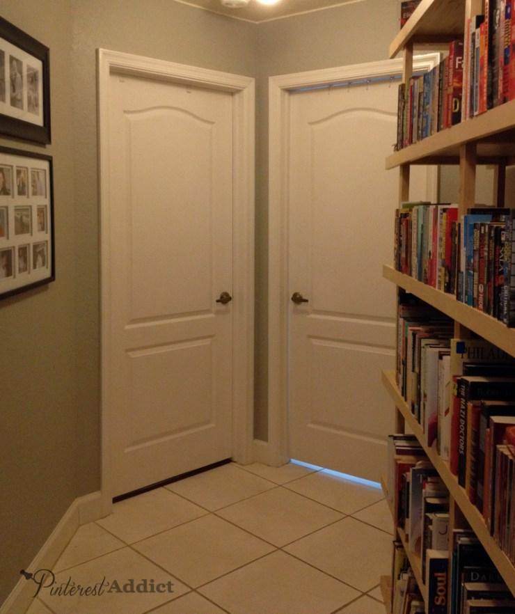 hallway laundry room white