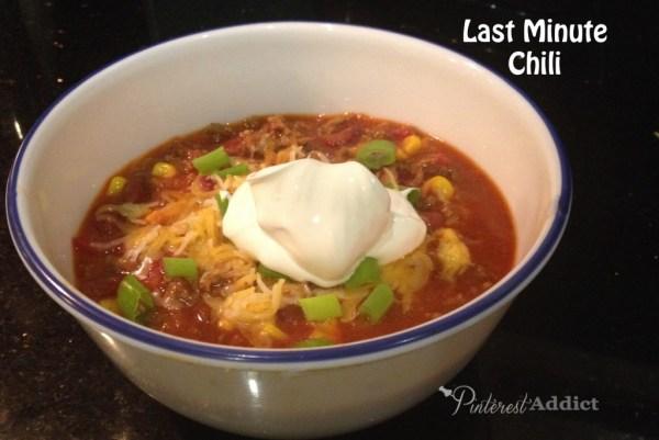 Last Minute Chili
