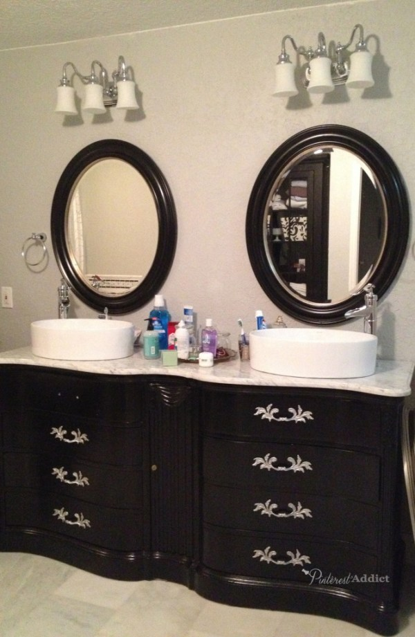 master bath mirror just right