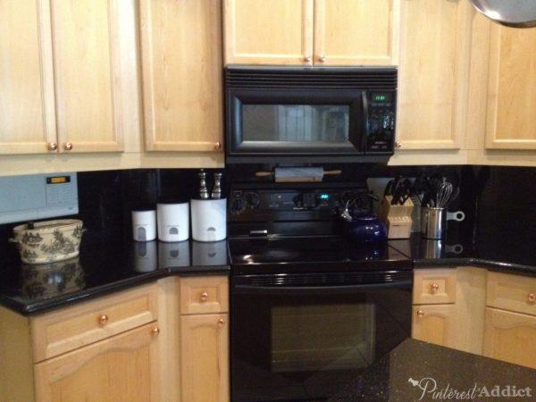 Black appliances - copper door pulls