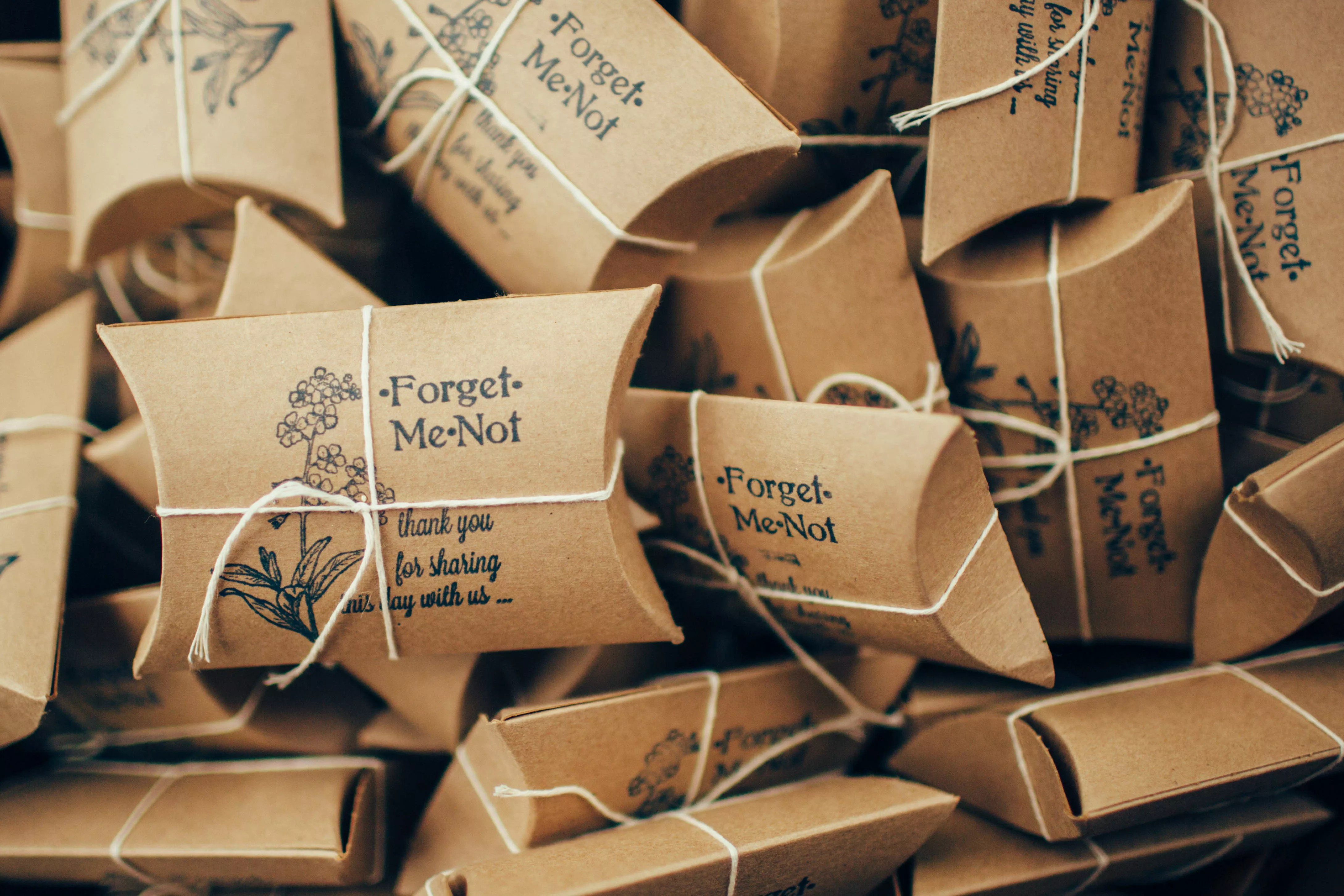 Forget-Me-Not Flower Seed Wedding Favors