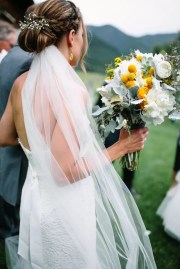 white baby's breath-decorated bridal