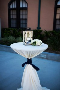 Cocktail Table, Lantern and Floral Decor