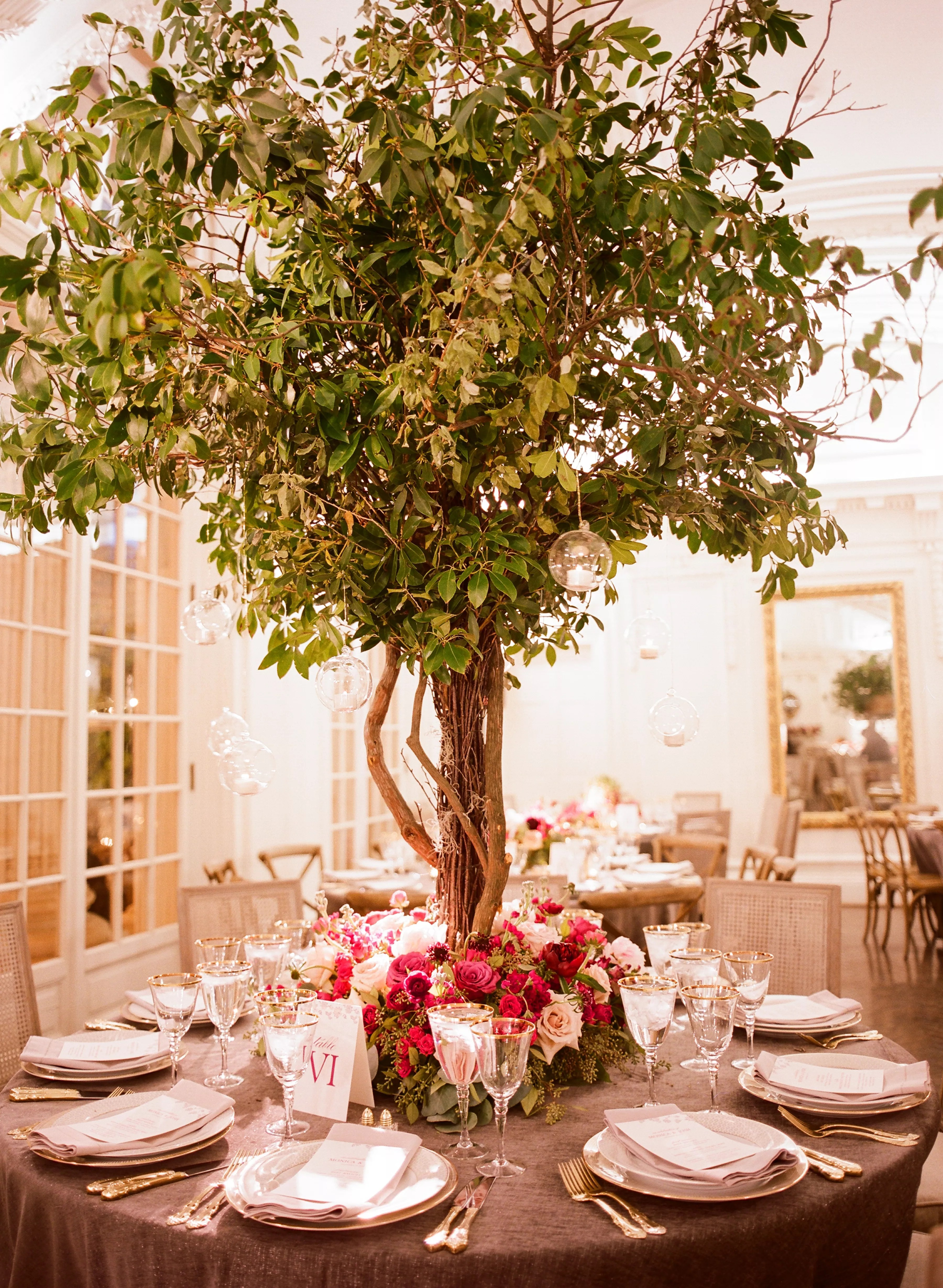 Whimsical GardenInspired Tree Centerpieces