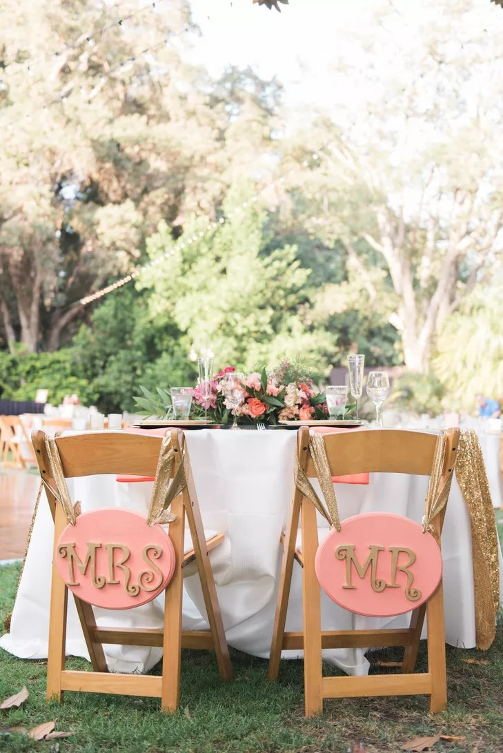 mr and mrs chair signs guest chairs for office pink gold
