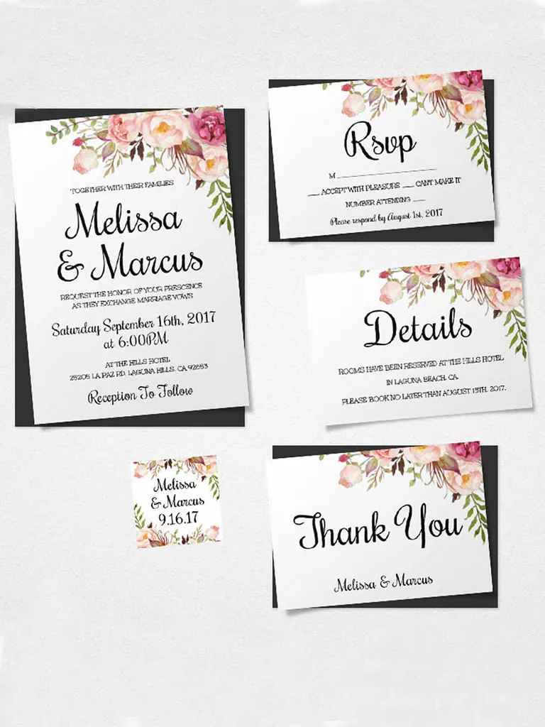 16 Printable Wedding Invitation Templates You Can DIY