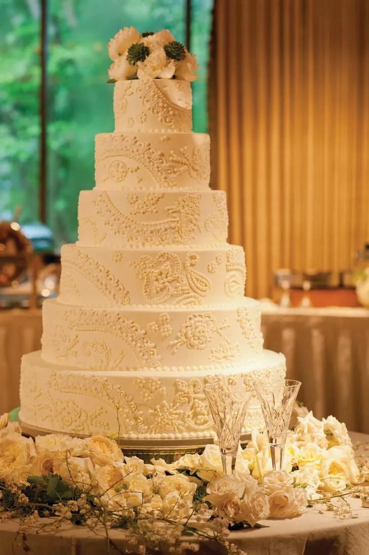 French Lace Style Wedding Cake