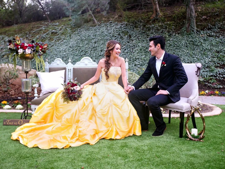 'Beauty And The Beast' Wedding Photo Shoot