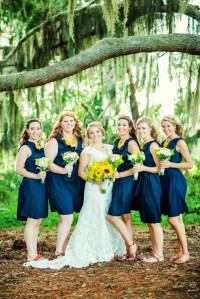Navy Knee-Length ModCloth Bridesmaid Dresses