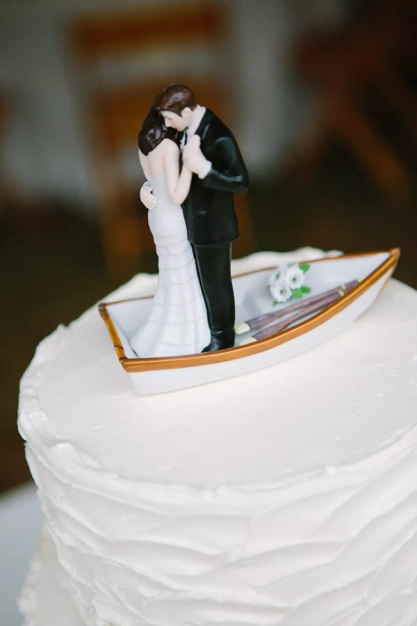 Bride And Groom Rowboat Cake Topper