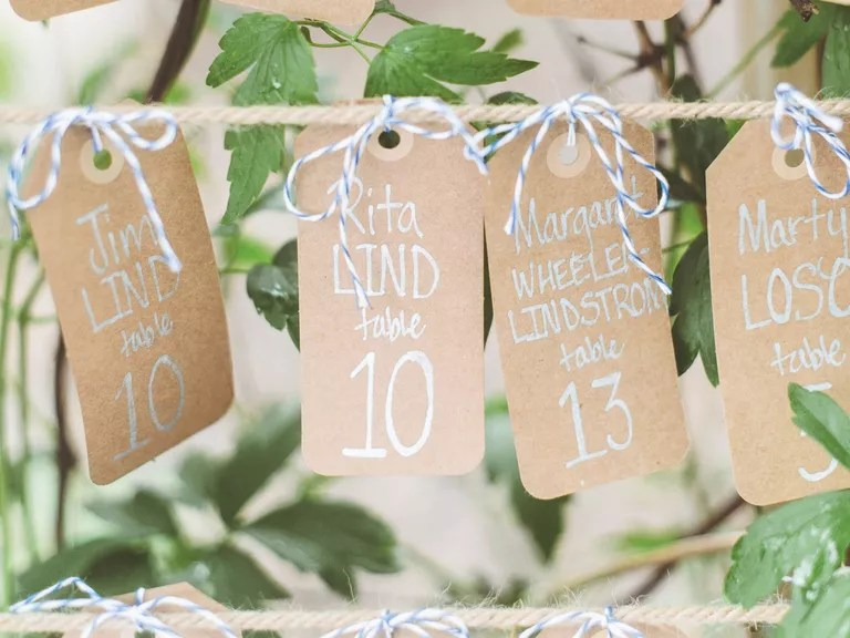 Wedding Reception Etiquette: Place Cards For Wedding