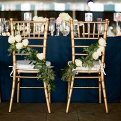 Wedding Bride And Groom Chairs Shabby Chic Dining Chair Slipcovers Cascading Rose Reception Decor