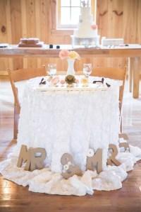 Rustic Romantic Sweetheart Table