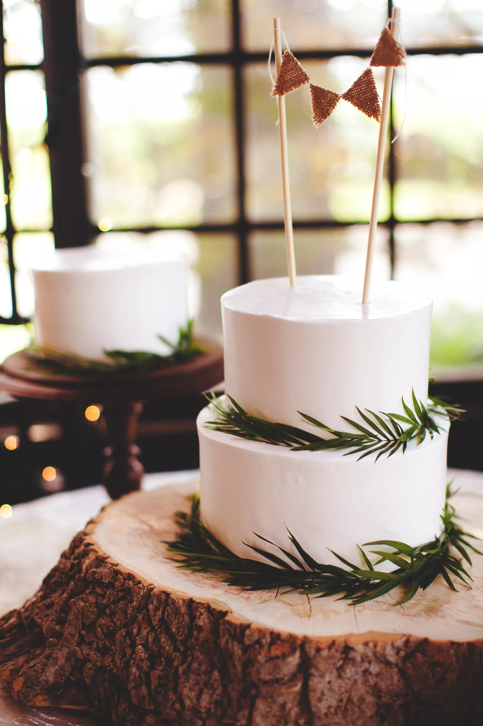 TwoTier Rustic Wedding Cake