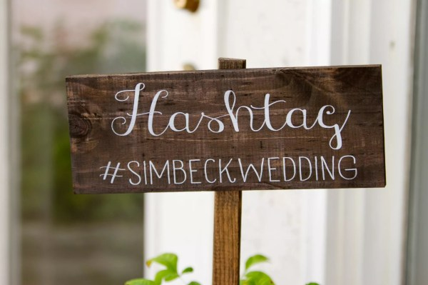 Whimsical Wooden Hashtag Sign