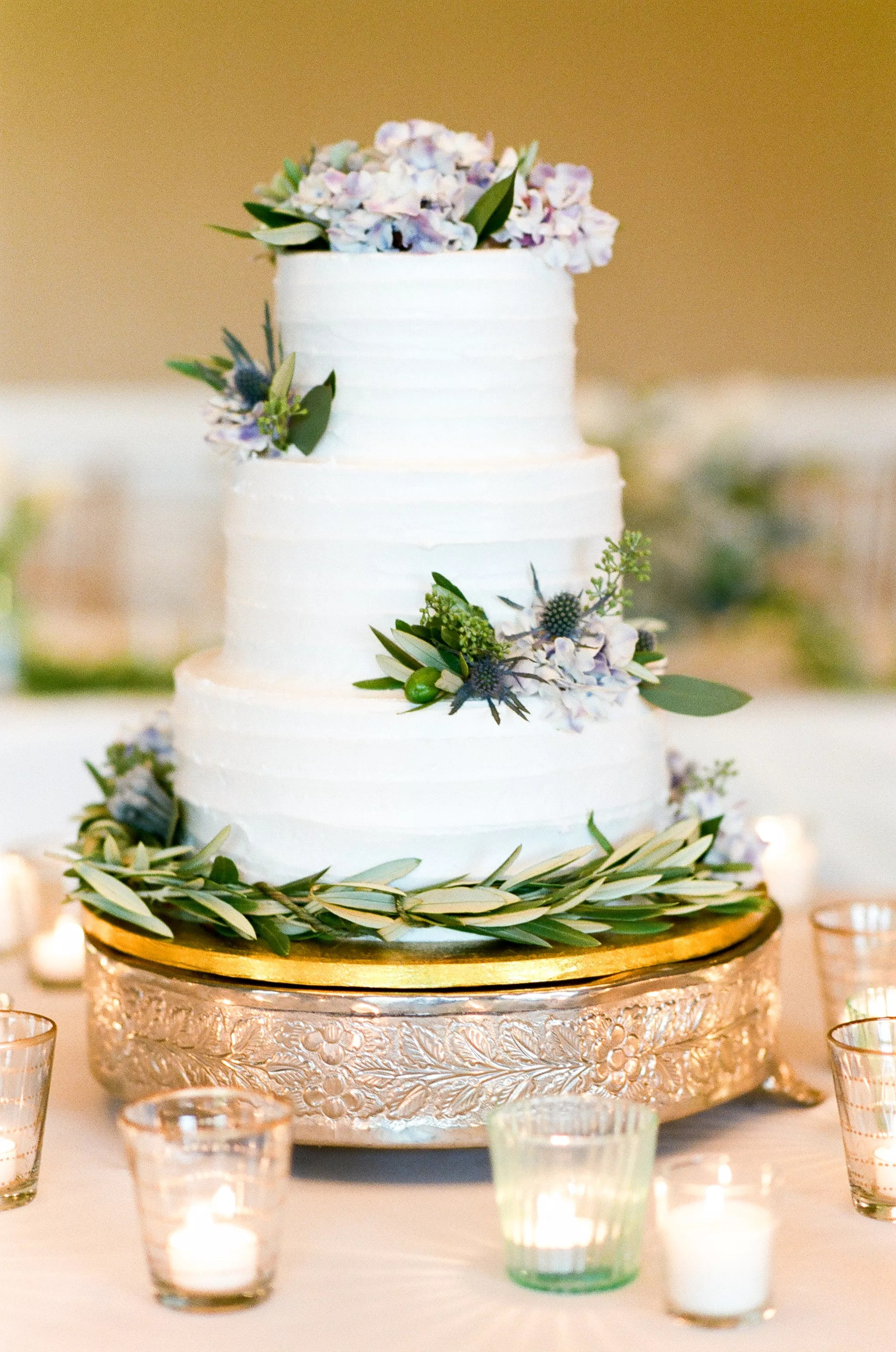 ThreeTier Combed Buttercream Wedding Cake