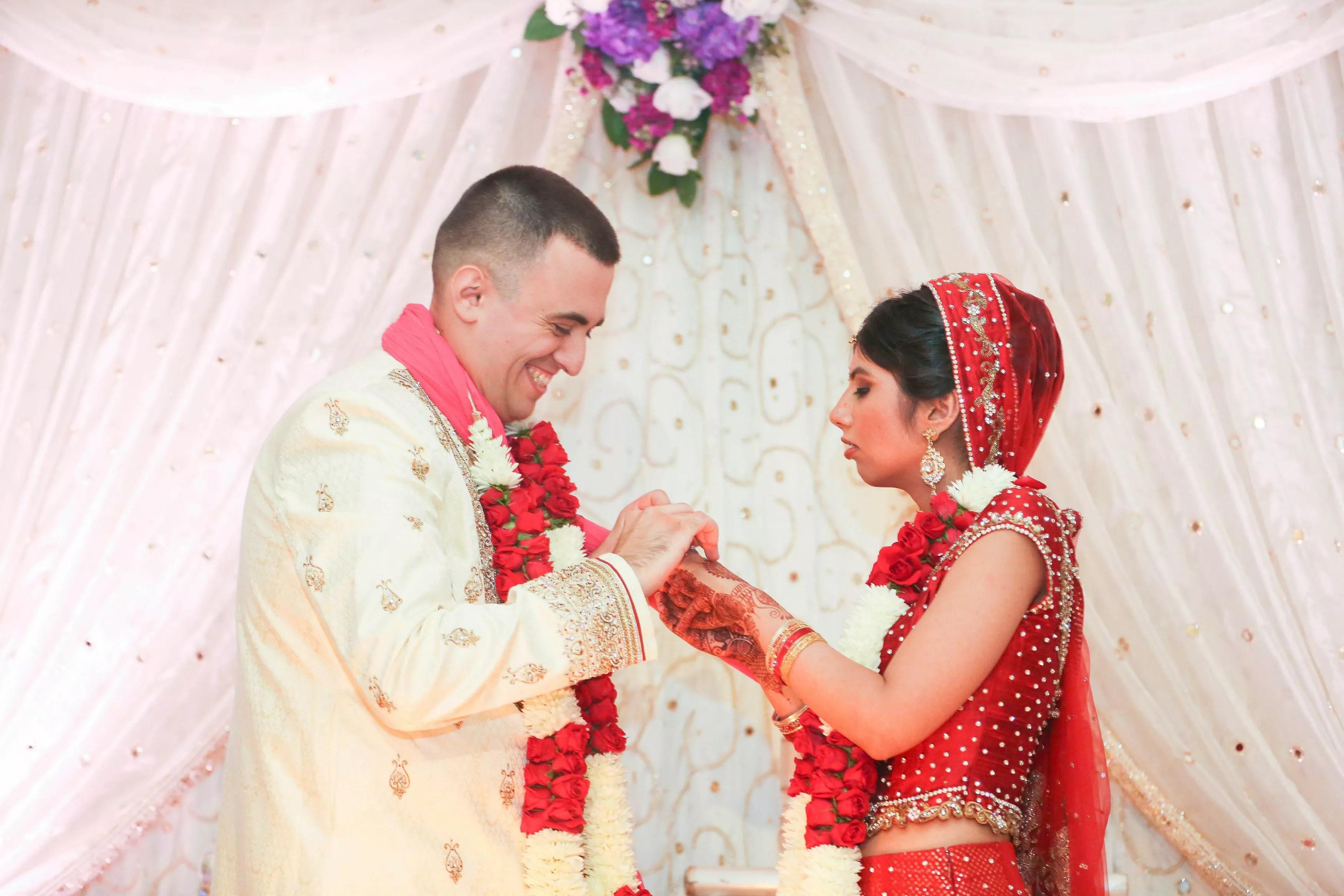 Indian Wedding Ceremony Flower Garlands