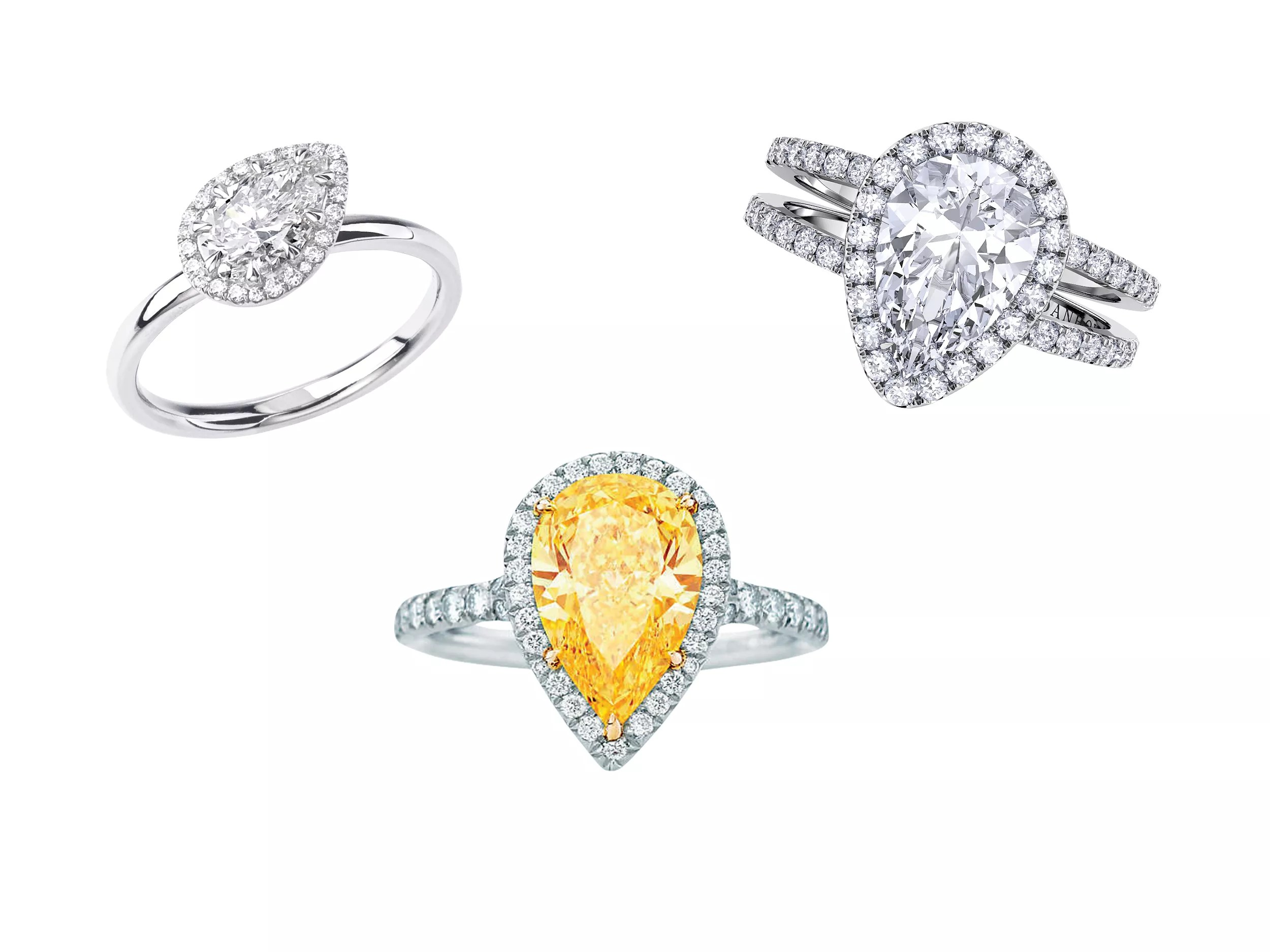 Gorgeous Pear-Shaped Engagement Rings