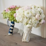 White Ranunculus And Hydrangea Bouquet