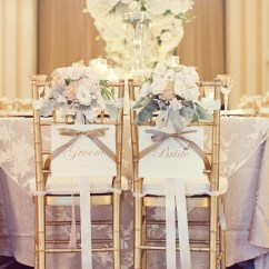 Wedding Bride And Groom Chairs White Leather Dining Room With Arms Romantic