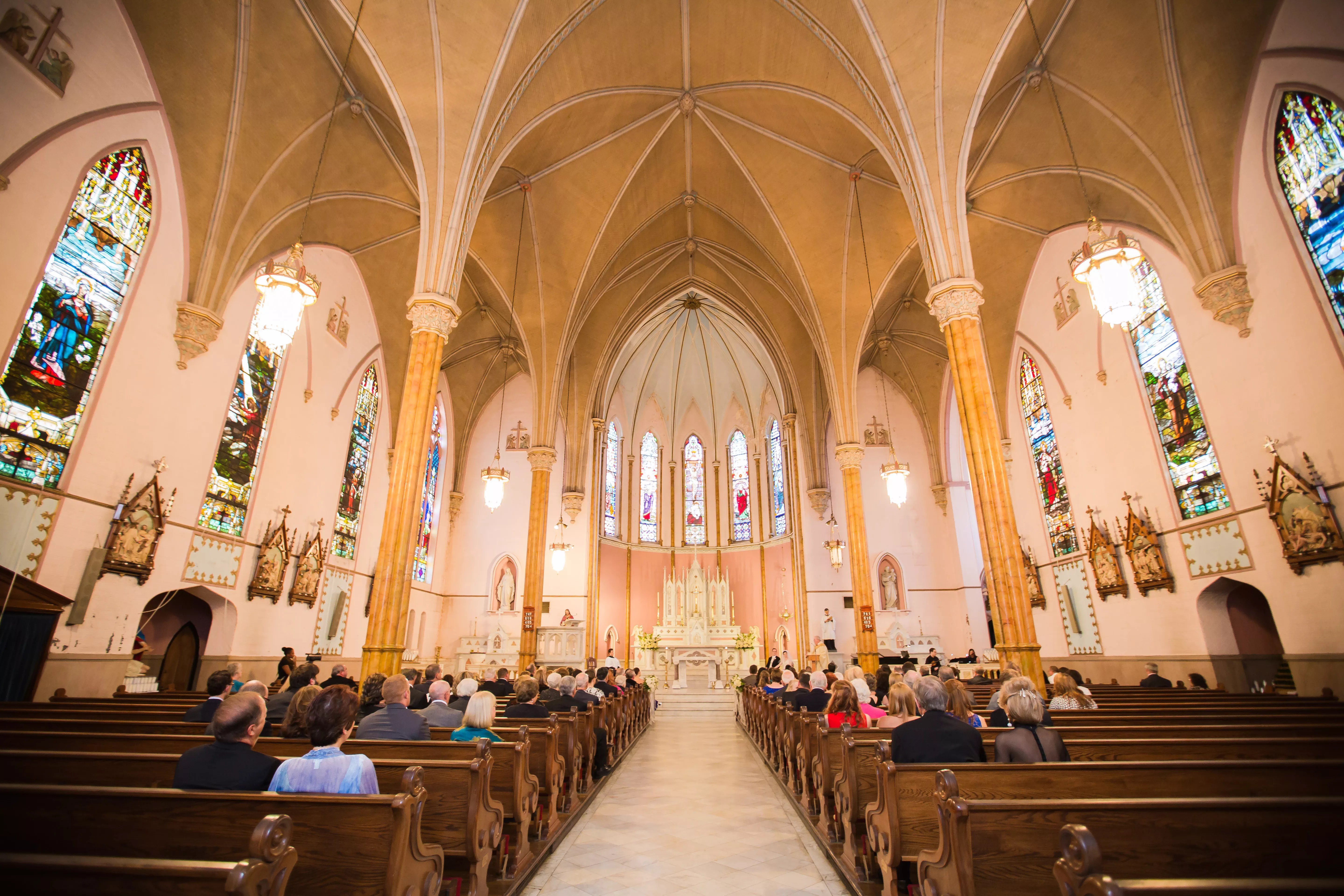 Ceremony at Holy Cross Catholic Church in Baltimore