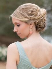 bridal hairstyles messy bun fade