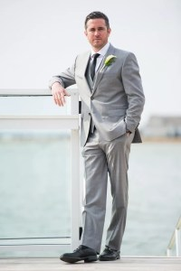 Black Tie Grey Suit Dress Yy