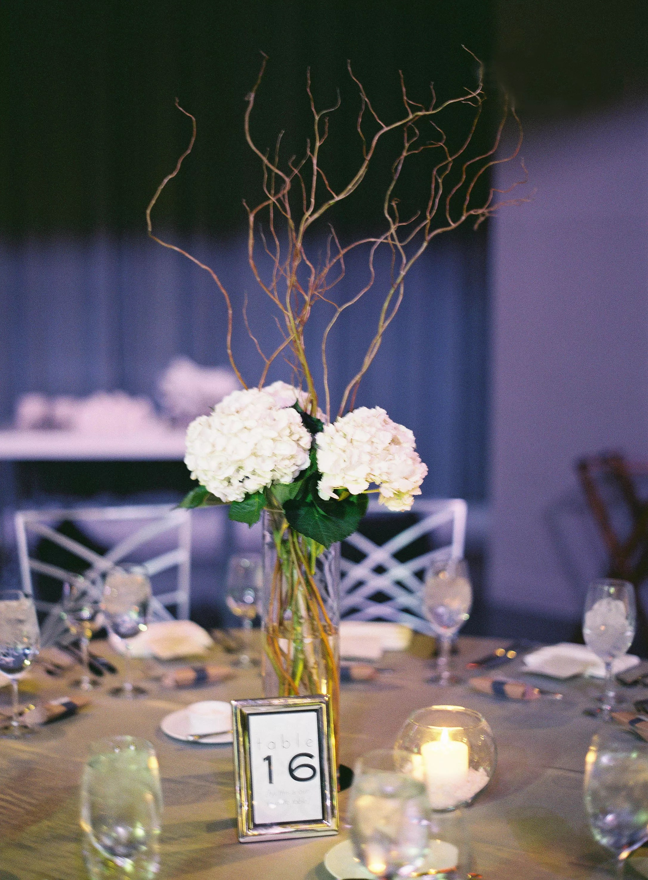 White Party Centerpieces Tables