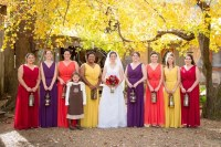 Bright-Colored Bridesmaid Dresses