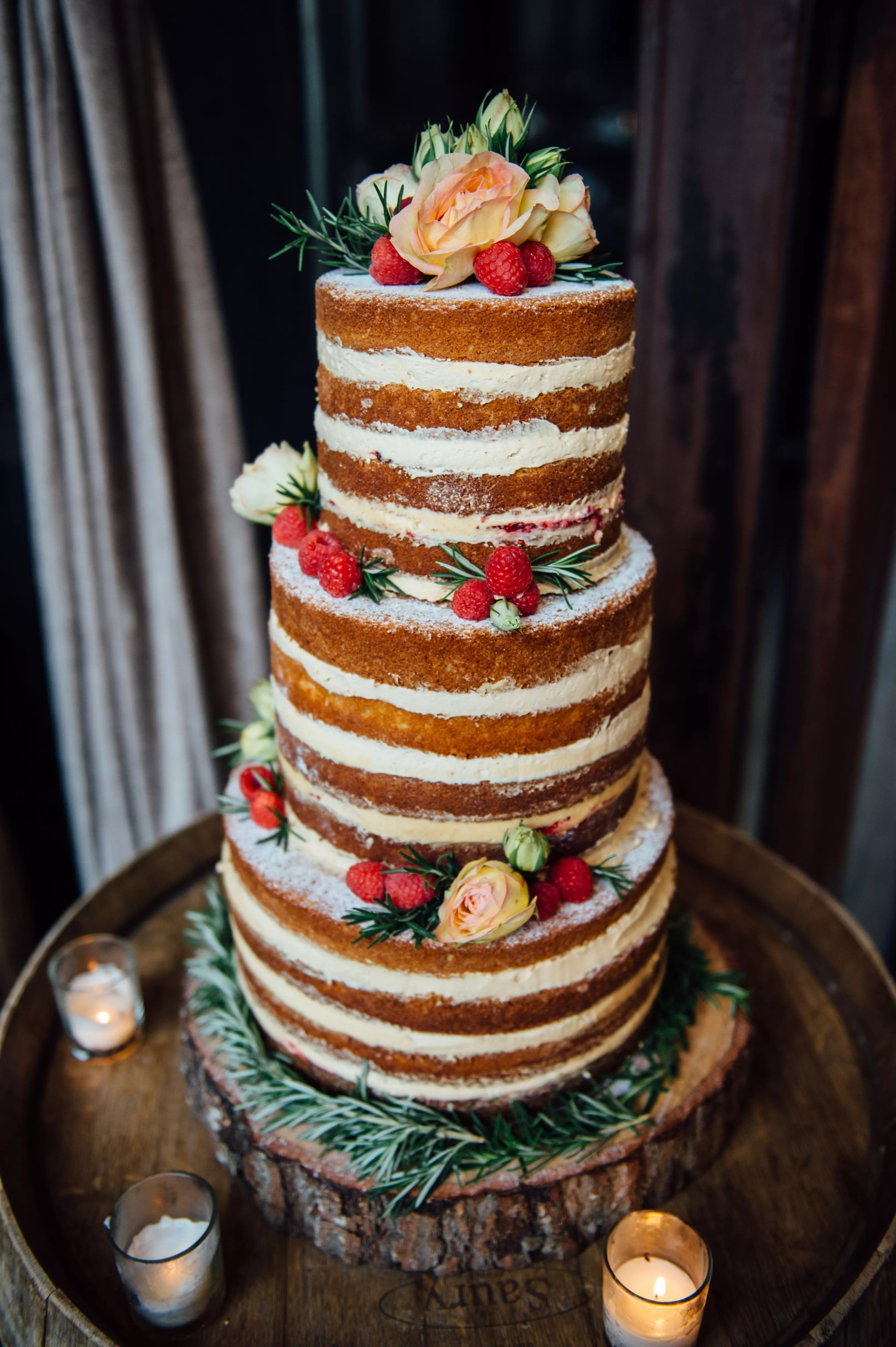 Peanut Butter and Jelly Naked Cake