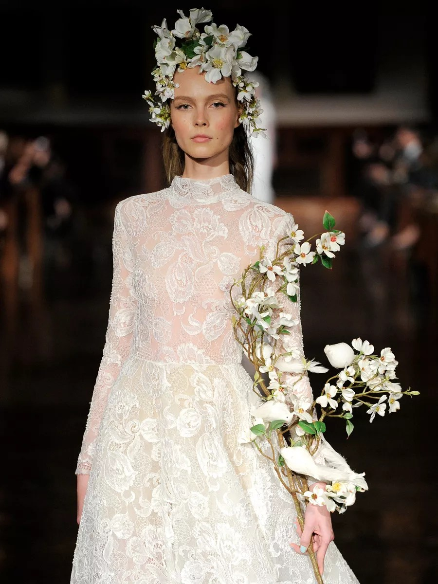 Reem Acra Spring 2019 Collection Bridal Fashion Week Photos